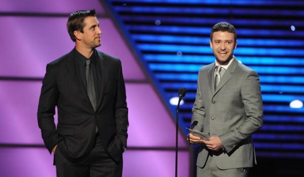 Aaron Rodgers e Justin Timberlake agli Espy Awards 2011