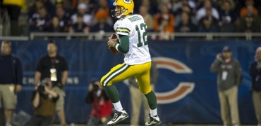 Aaron Rodgers, quarterback dei campioni in carica, i Green Bay Packers